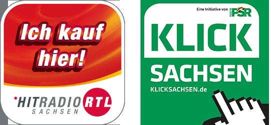 """Banner der Aktionen """"Ich kauf hier"""" und """"Klick Sachsen"""""""